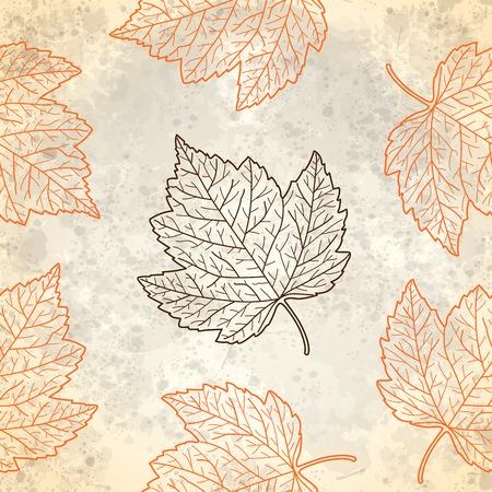 Patroon met herfstbladeren in beige, vectoreps10 Stock Illustratie