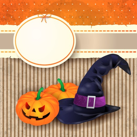 whitch: Halloween background with witch