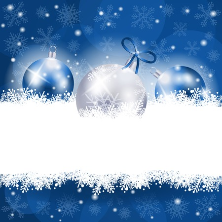 Christmas background in blue with copy space, vector eps10 Ilustracja