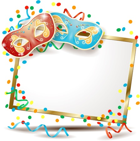 cartello Carnevale con due maschere