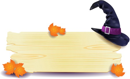 Halloween signboard with hat