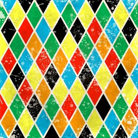 arlecchino: Arlecchino sfondo vintage, illustrazione vettoriale eps10