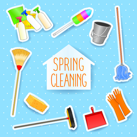 Spring cleaning, vector illustration eps10 Ilustrace