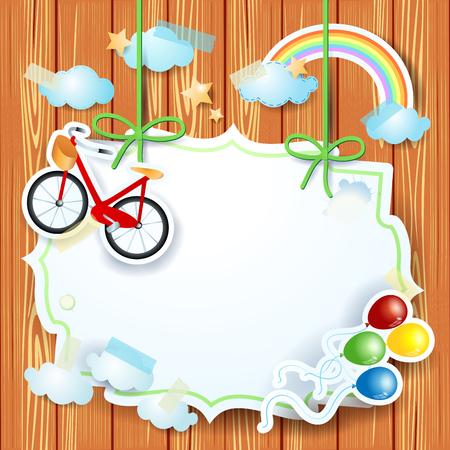 Colored paper cutouts design image illustration