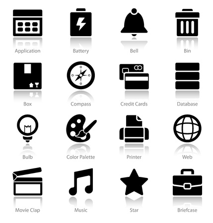A clean set of web icons photo