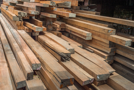 stacked up: Building materials and timber supplies stacked up in a builders merchants yard.