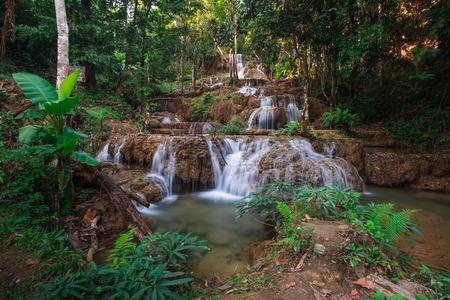 namtok: Ngao waterfall in the national park,Aumpher Ngao,lampang,thailand.