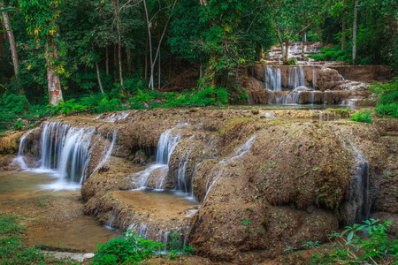 namtok: Ngao waterfall in the national park,Aumpher Ngao,lampang,thailand.