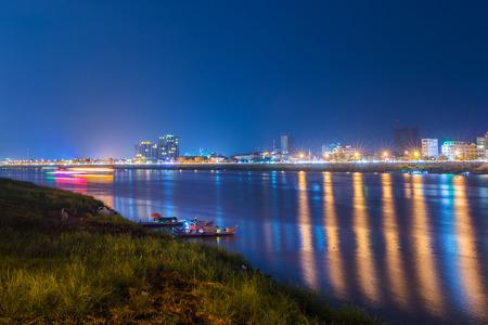 penh: Night View in Phnom penh,Cambodia.