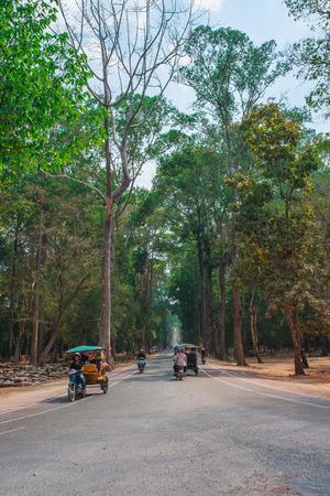 thom: Road in Angkor Thom,Siem reap,Cambodia.