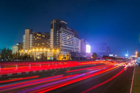 Night View in Phnom penh,Cambodia.
