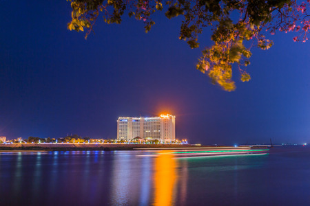 phnom penh: Night View in Phnom penh,Cambodia.