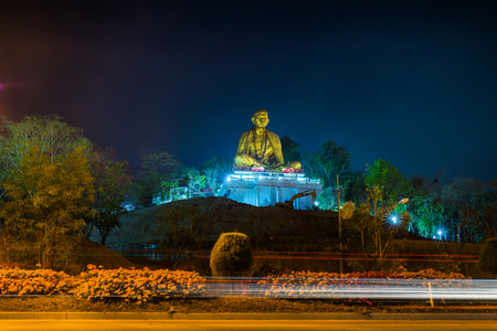 lamphun: Wat Lamphun Doi ti. Big Buddha built in approximately 2011 to the attraction of Lamphun,Thailand.