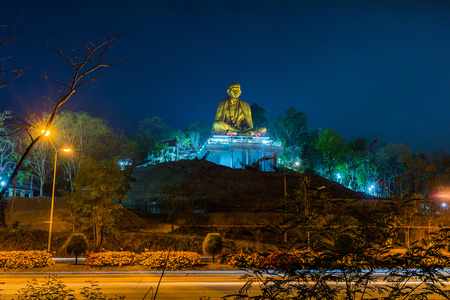 approximately: Wat Lamphun Doi ti. Big Buddha built in approximately 2011 to the attraction of Lamphun,Thailand.