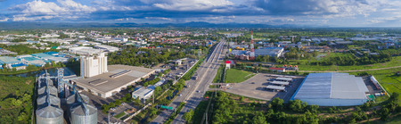 Aerial view of Industrial Estate northern thailand. Фото со стока - 60545409