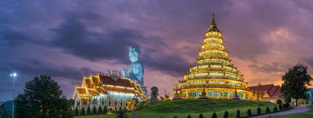pla: Wat hyua pla kang temple , Chiang Rai,northern of Thailand.