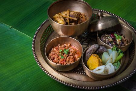 Lanna style Northern Thai food,thailand asia Stock Photo