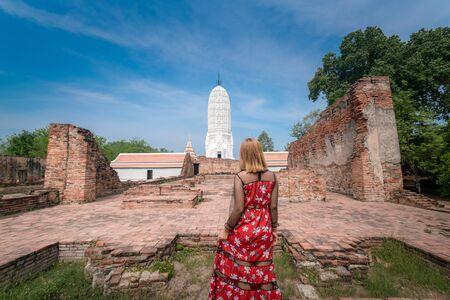 Old temple Wat Putthaisawan in Ayutthaya, Thailand grand palace. Ayutthaya Thailand. Ayutthaya famous sightseeing place.