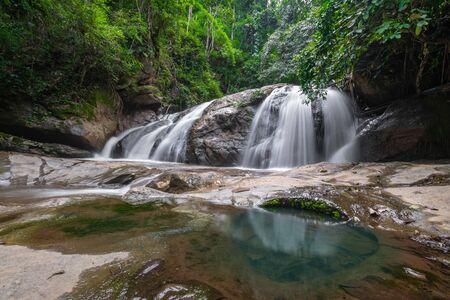 Mae Sa waterfall national park in Mae Rim, Chiang Mai, Thailand. Stock Photo