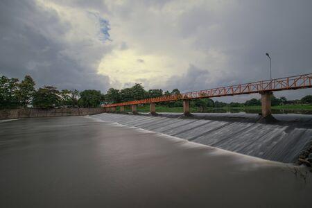 weir in ping river north in chiangmai ,chiangmai,thailand.