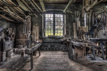 Old carpenter workshop