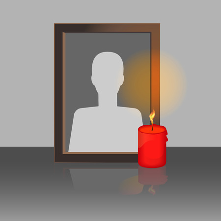 decease: Photo Frame with Candle