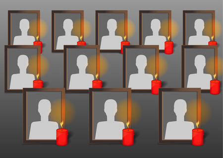decease: Photo Frames with candles