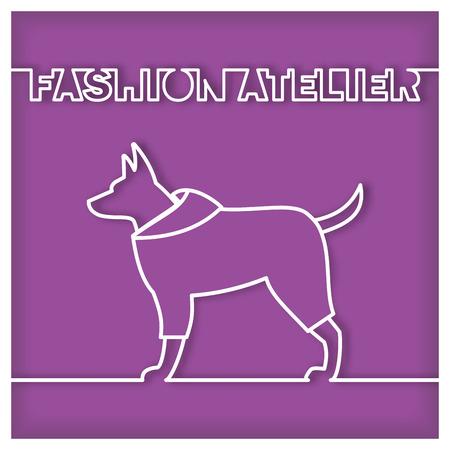 petshop: Dog Fashion Atelier Icon Illustration