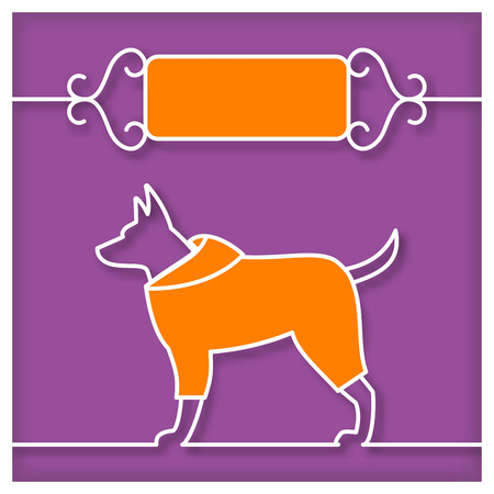petshop: Dog Studio Sign with text place