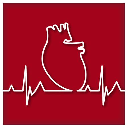 cardioid: Corazón Esquema Icono Vectores