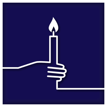 icono mano: Candle in Hand Icon