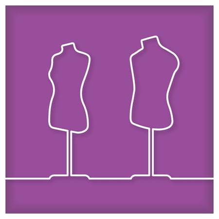 dummy: Tailors dummy Icon Illustration