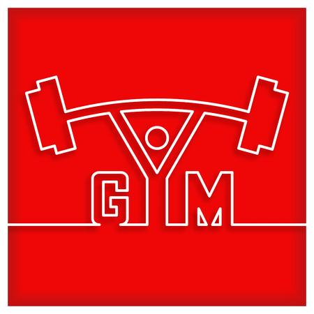 fitness equipment: gym icon