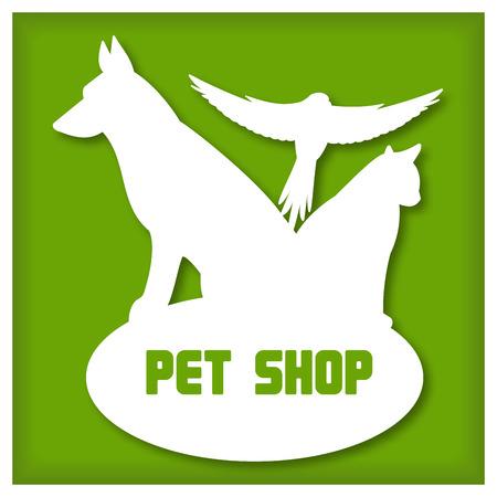 tienda de animales: icono de tienda de animales Vectores