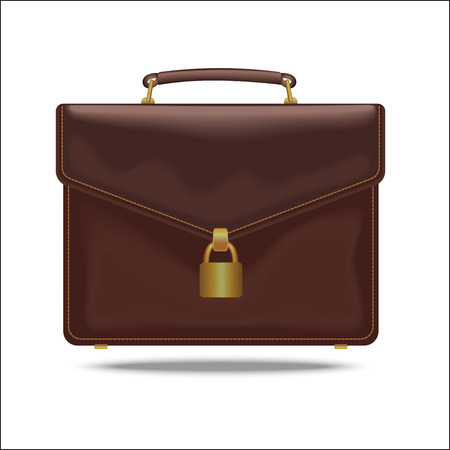 Briefcase with lock