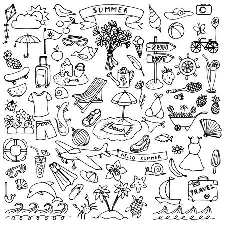 doodle: Summer hand drawn set