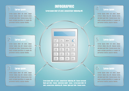calculate: Infographic with calculate and 6 options