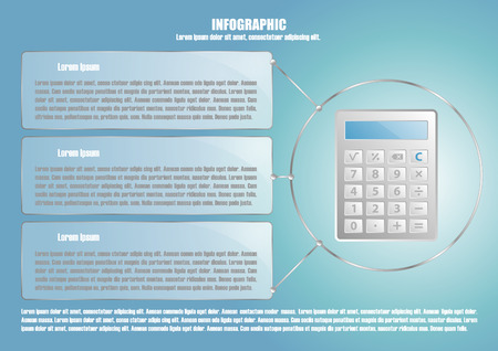 calculate: Infographic with calculate and 3 options