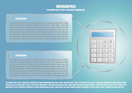calculate: Infographic with calculate and 2 options