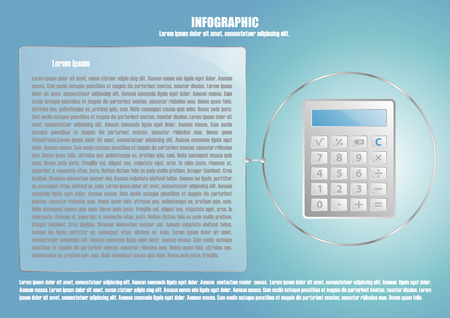 calculate: Infographic with calculate and text place Illustration