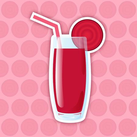 remolacha: Icono de jugo. Remolacha
