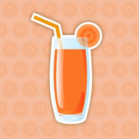 carrot juice: Juice Icon. Carrot