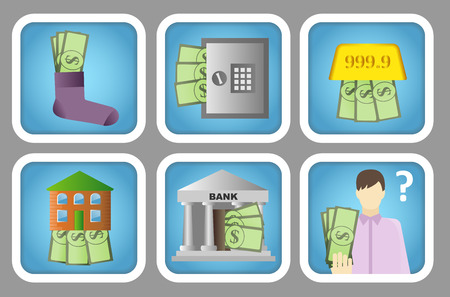 house exchange: Keeping Money Color Icons