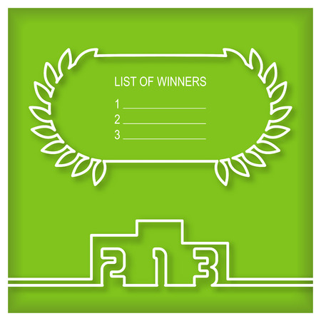 winner: Winners podium template with list of winners