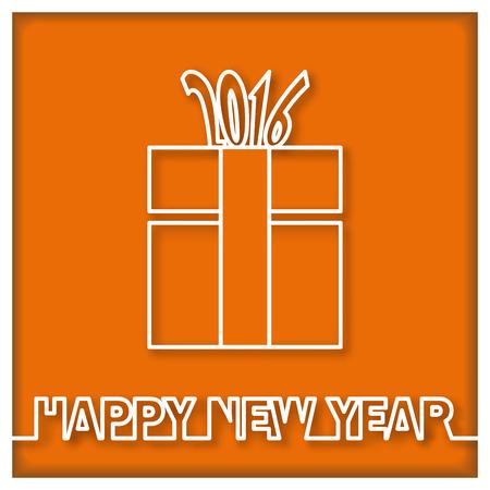 present box: Happy New Year 2016 and present box