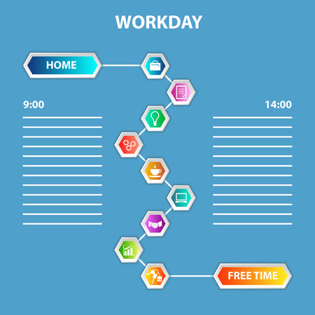 workday: Order of Workday Template Illustration