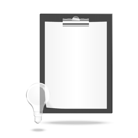 conformity: Vector illustration of a checklist with lamp Illustration