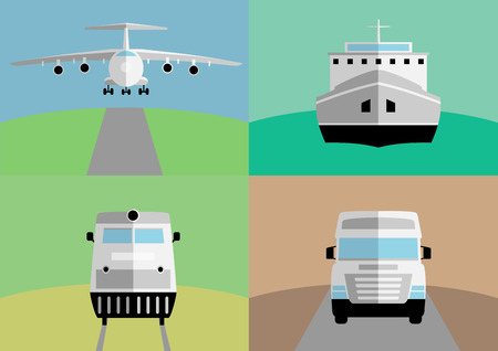 Background with freight transportation Illustration