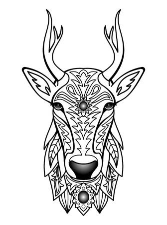 christmas tattoo: Ornamental Deer