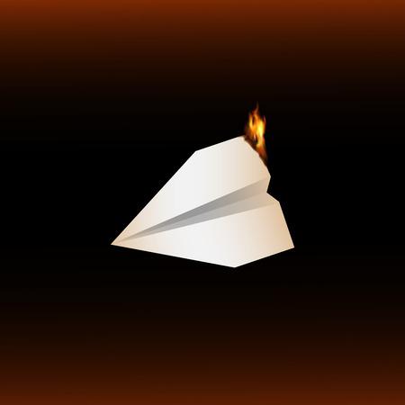 burning paper: Burning paper plane